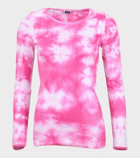 101 Rib Tie Dye Pink/White