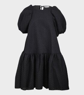 Alexa Dress Blossom Matelassé Black