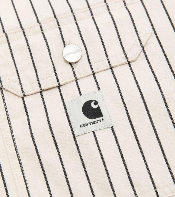 Carhartt WIP - W L/S Trade Shirt Wax/Black Rinsed