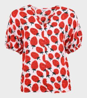 Marimekko - Lehtevä Mansikka Shirt Red