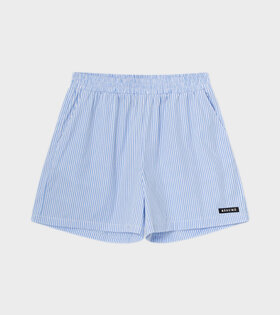 RÉSUMÉ - EllenRS Shorts Light Blue/White