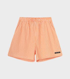 RÉSUMÉ - EllenRS Shorts Orange/White