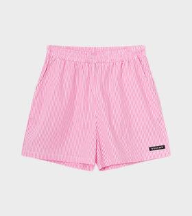 RÉSUMÉ - EllenRS Shorts Pink/White