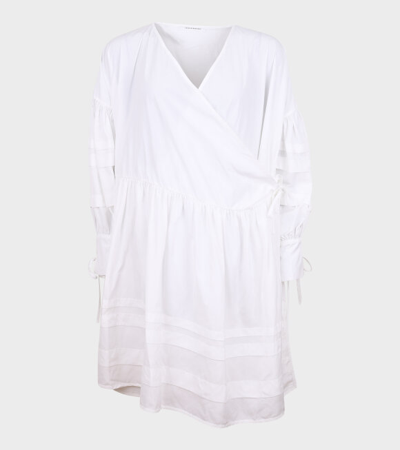 Cecilie Bahnsen - Amalie Dress Recycled Faille White