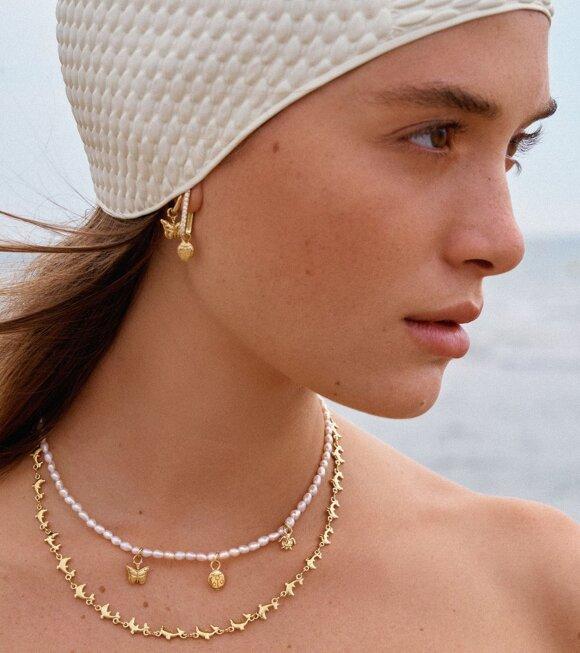 Wilhelmina Garcia - Delfina Necklace Gold