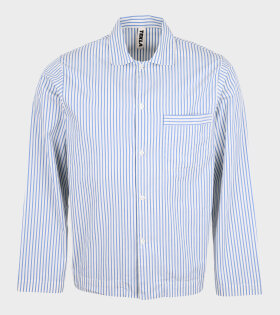 Tekla - Pyjamas Shirt Placid Blue Stripes