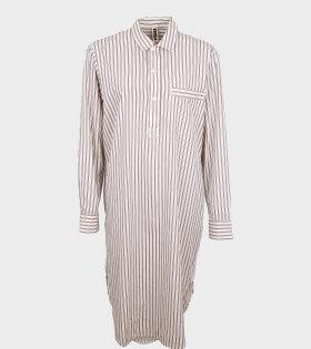 Tekla - Night Shirt Hopper Stripes