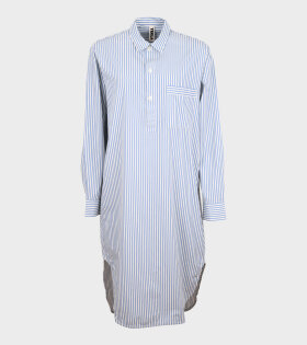 Tekla - Night Shirt Placid Blue Stripe