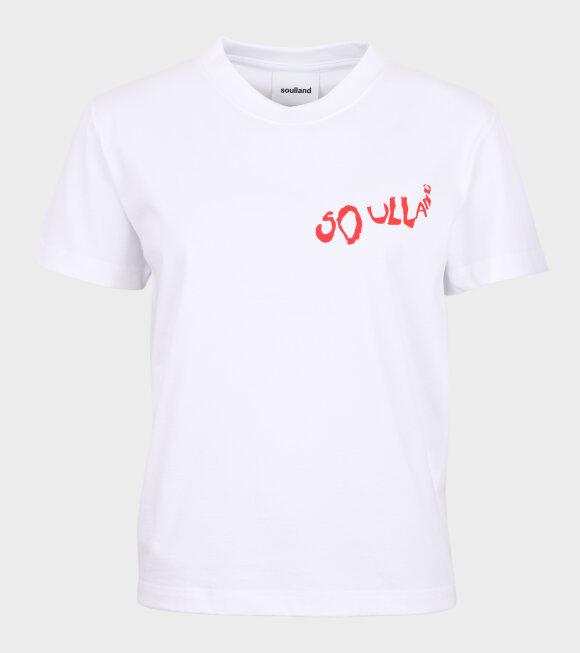 Soulland - Fae Small Balder Logo Tee White