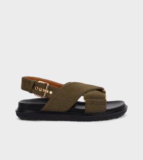 Fussbett Sandal Army Green