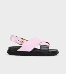 Fussbett Sandal Pink/Green