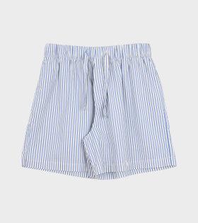 Tekla - Pyjamas Shorts Placid Blue Stripe