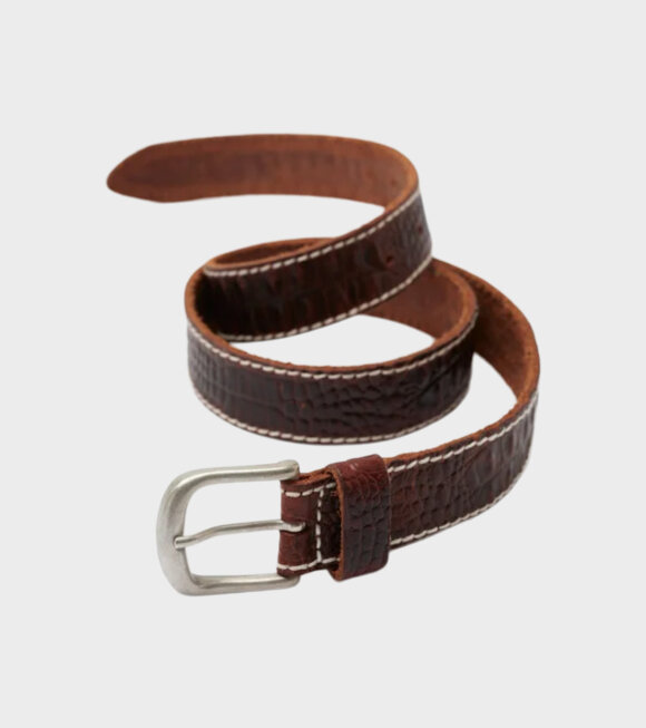 Our Legacy - 3,5 CM Belt Brown Croco