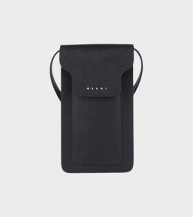 Phone Pouch On Strap Black