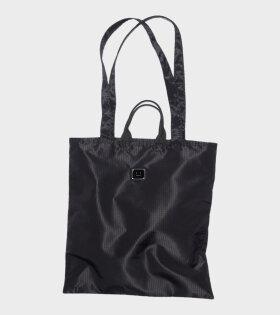 Logo Plaque Tote Bag Black