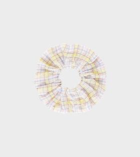 Ganni - Scrunchie Seersucker Check Multicolour
