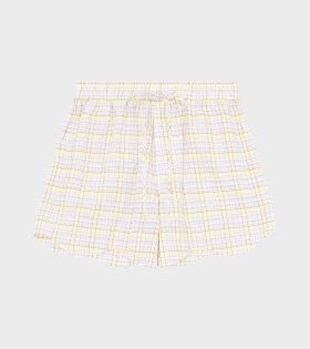 Ganni - Shorts Seersucker Check Multicolour