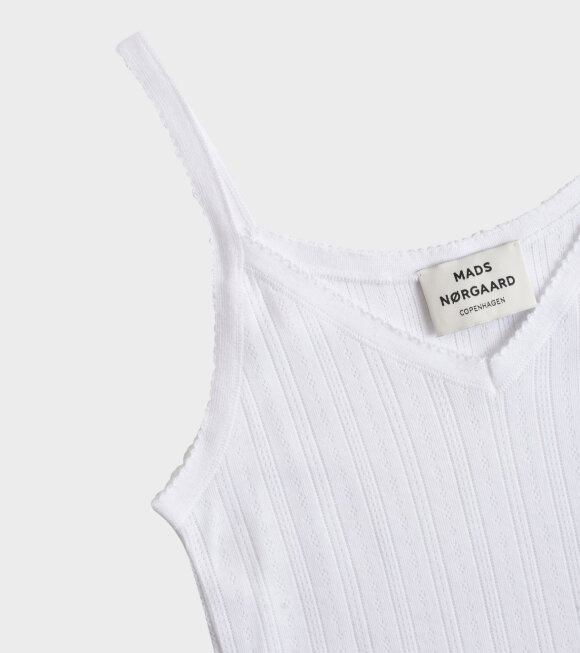 Mads Nørgaard  - Trille Tank Top White