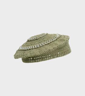 Ganni - Cotton Knit Hat Kalamata