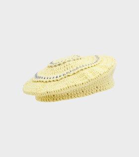 Ganni - Cotton Knit Hat Pale Banana