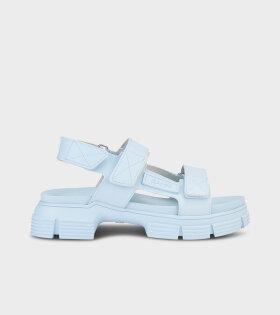 Ganni - Velcro Sandals Corydalis Blue