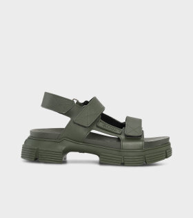 Ganni - Velcro Sandals Kalamata