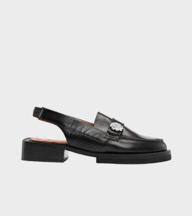 Ganni - Slingback Loafers Black