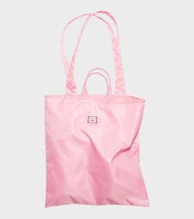 Logo Plaque Tote Bag Pink