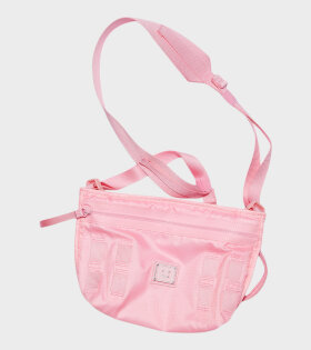 Logo Plaque Crossbody Bag Pink