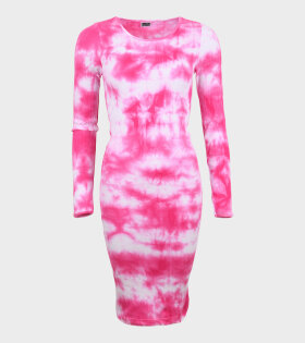 Nørgaard Paa Strøget - 101 Rib John Dress Tie Dye Pink/White