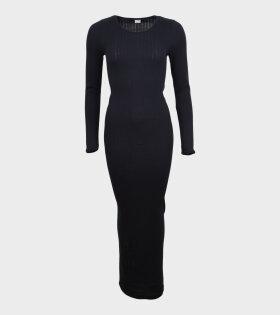 Nørgaard Paa Strøget - 101 Rib Long John Dress Black
