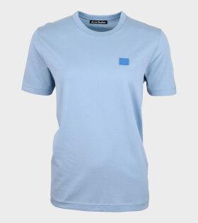 Face T-shirt Powder Blue