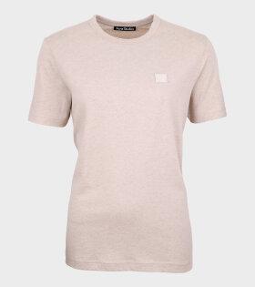Face T-shirt Oatmeal Melange
