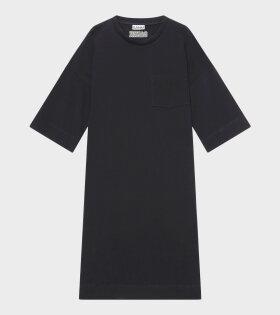 Ganni - Software Midi Dress Black