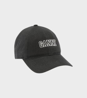 Ganni - Software Logo Cap Black