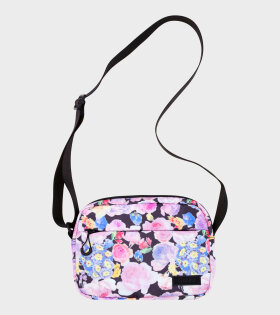 Ganni - Recycled Tech Fabric Bag Pink Flowers