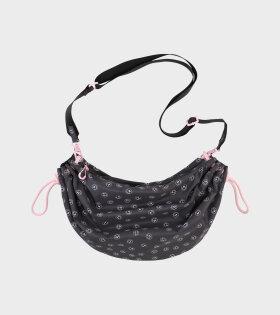 Ganni - Recycled Big Tech Fabric Bag Black