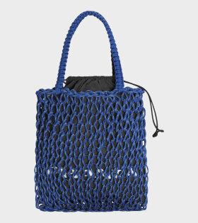 Large Jumbo Mesh Bag Blue