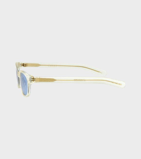 Flatlist - Le Bucheron Crystal Yellow/Solid Blue Lens