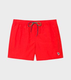 Paul Smith - Multicolour Zebra Swim Shorts Red