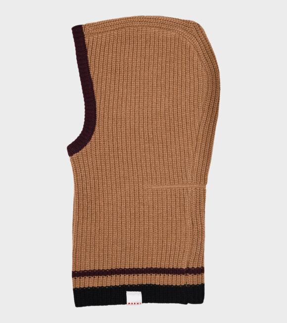 Marni - Virgin Wool Balaclava Brown