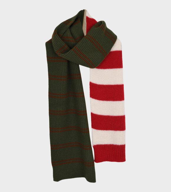 Marni - Contrasting Striped Scarf Green Multi