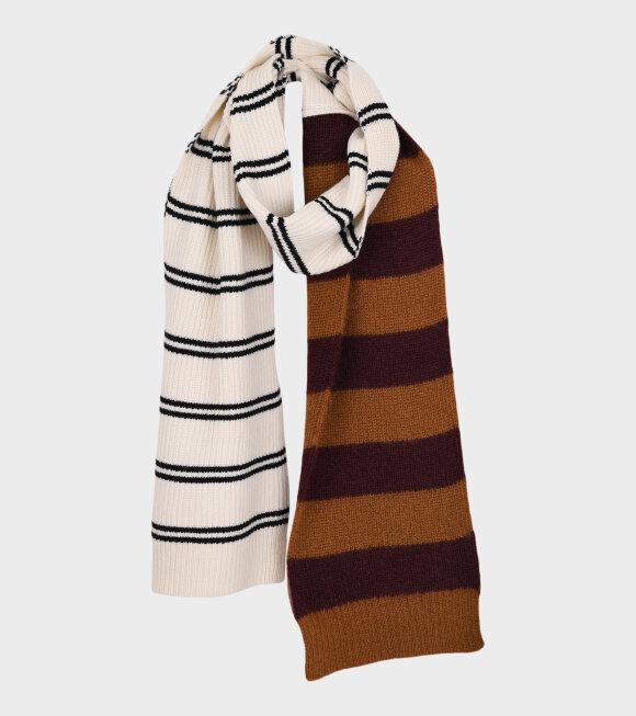 Marni - Contrasting Striped Scarf Black Multi