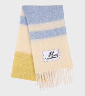 Marni - Striped Mohair Scarf Blue