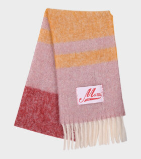 Marni - Striped Mohair Scarf Pink