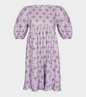 Malie - Chine Dress Lilac Handblock