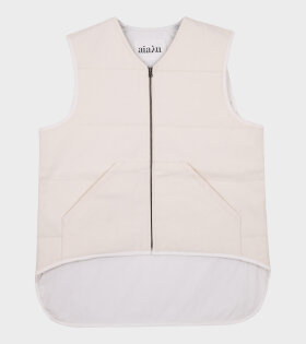 Aiayu - Camp Gilet Canvas Off White