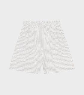 Skall Studio - Poet Shorts Stripe White/Grey