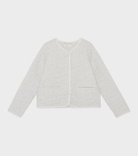 Skall Studio - Emma Jacket Stripe White/Grey
