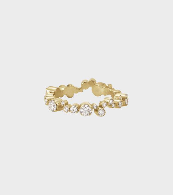 Sophie Bille Brahe - Ensemble Splash Diamond Ring Gold